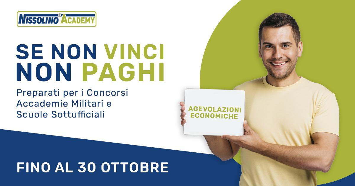 Agevolazioni Economiche Nissolino Academy 2020